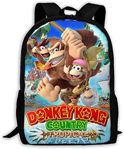 Kinder Schultaschen Don-Key K-ong Country 3D Druck Rucksäcke Kinder Daypack für Jungen Mädchen