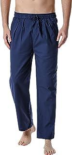 YAOMEI Men's Pyjamas Bottoms Long, Drawstring Lounge Pants Nightwear Underwear Casual Trousers Elastic Waistband for Sleep...