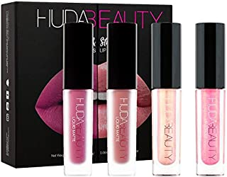 New Huda Beauty Matte Lipstick and Strobe Mini Lip Set - Trophy Wife, Spice Girl, Ritzy, Snobby