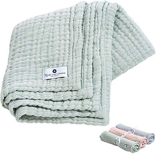 Paño de muselina de alta calidad Nordic coast® hecho de tela de muselina, manta de juego para bebés 4 en 1, ideal como tela de muselina, manta de bebé, paño para envolver o de babero, alta calidad
