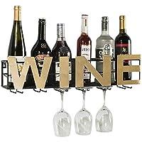 KFDQ ウォール収納棚、シェルフ製品ラックワインカップタイプtieyi赤ワインを壁掛けラックは、高いガラスホルダースタイル逆さまハンギングラック,C,40.2センチメートル