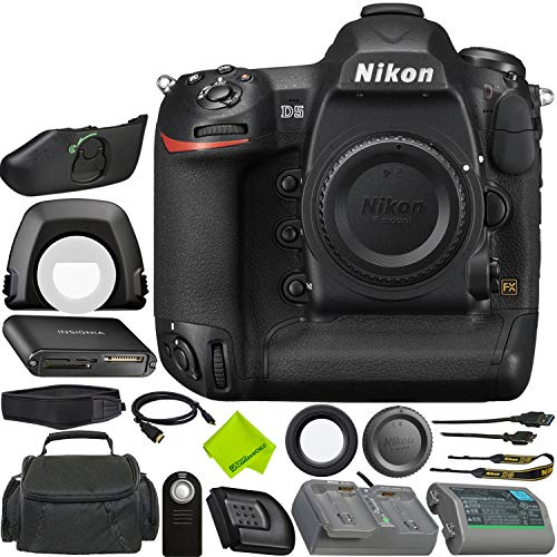 Nikon D5 DSLR Camera (Body Only, Dual XQD Slots) Bundle