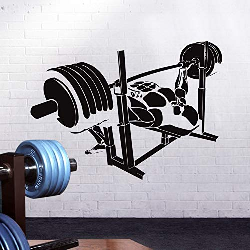zzlfn3lv Gym Sticker Fitness Decal Body-Building Posters Vinyl Wall Decals Pegatina Quadro Parede Decor Mural Gym Sticker42*58cm