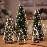MXXDB Yugust Tabletop Mini Christmas Tree with Wood Base, Artificial...