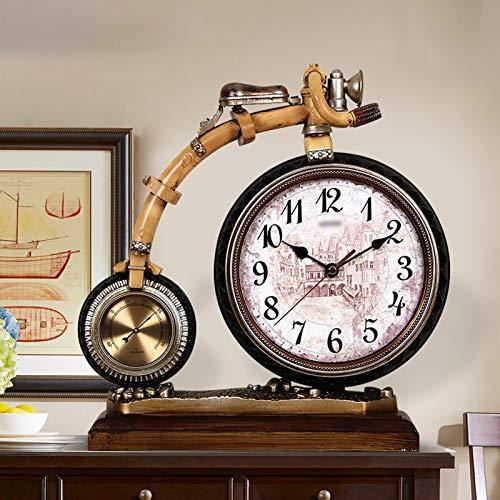Reloj digital Reloj de la mesa de resina retro de 13.3 pulgadas usada para la sala de estar decoración reloj de escritorio en el reloj de mesa arábiga con termómetro Despertador Digital ( Color : C )