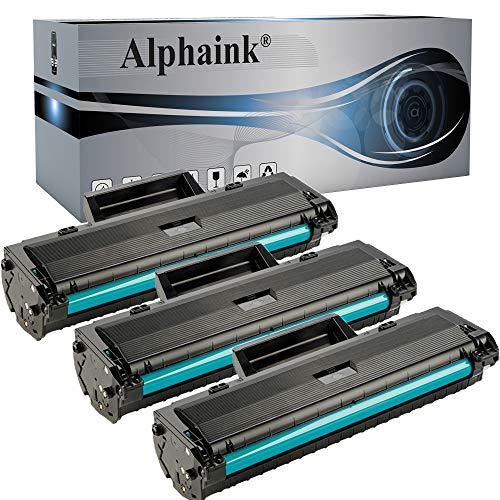 3 Toner Alphaink Compatibili con HP W1106A SENZA CHIP per Stampanti HP Laser MFP 135a, 135w, 137fnw, 107a, 107w, 106a Versione da 1.000 copie