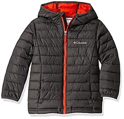 Columbia Boy's Powder Lite Hooded Winter Jacket, Water repellent, Grill, Large