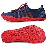 Boys & Girls Kids Water Shoes Lightweight Comfort Sole Easy Walking Athletic Slip on Aqua Sock(Toddler/Little Kid/Big Kid) U420WZ1904-Navy.red-33