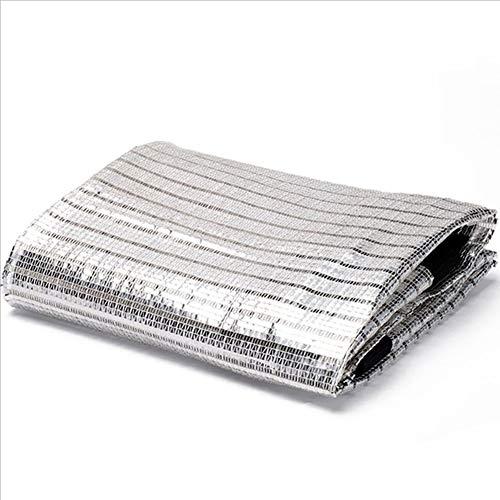Toldos Sombreado Neto Paño Protector Solar Tejido Reflectante De Aluminio Pantalla De Aislamiento De Red Techo Protector ZHML (Tamaño : 1 * 2m)
