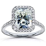 Kobelli Radiant-cut Moissanite Engagement Ring 3 CTW 14k White Gold, Size 7, White Gold