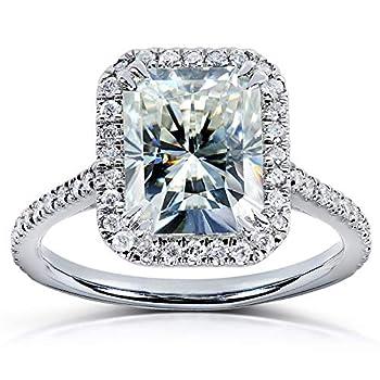 Kobelli Radiant-cut Moissanite Engagement Ring 3 CTW 14k White Gold Size 5 White Gold