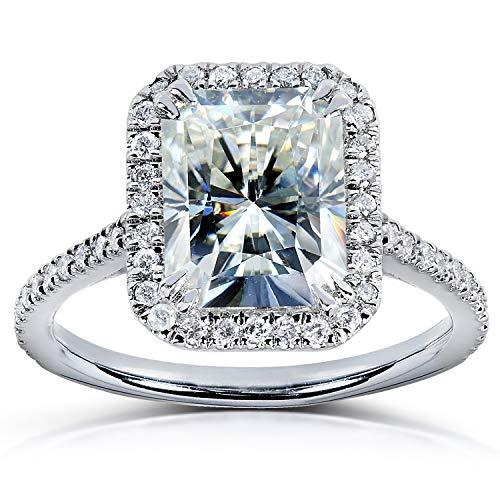 Kobelli Radiant-cut Moissanite Engagement Ring 3 CTW 14k White Gold, Size 8.5, White Gold
