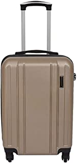 NJC Hard Shell 4 Wheel Spinner Suitcase Travel Trolley Luggage Lightweight Taupe