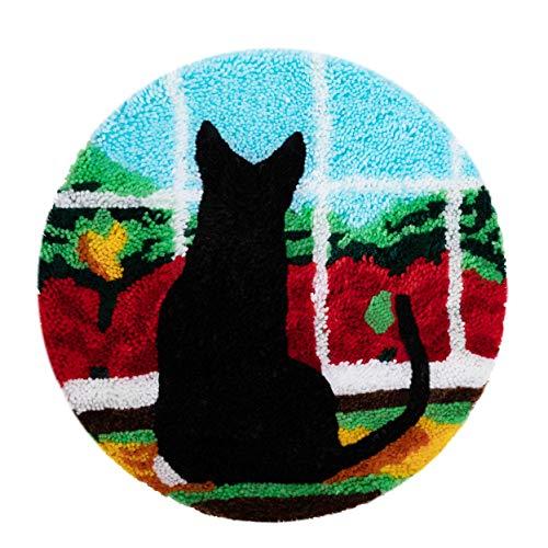 Kits de gancho de cierre Alfombra Bordado Punto de cruz Cojín Alfombra Alfombra de felpa Kit de bordado Alfombra DIY Fabricación de alfombras Decoración para el hogar