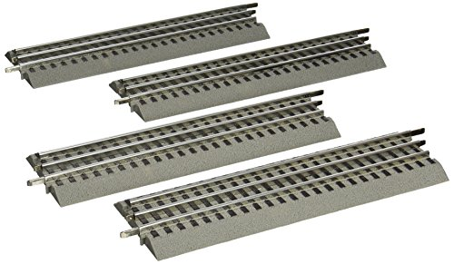 """Lionel FasTrack 10"""" Straight Track, Electric O Gauge, 4-Pack"""