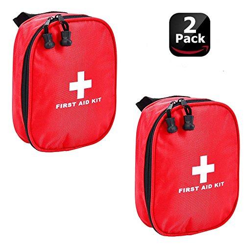 Aranticy Erste Hilfe Set, 2 Stück Leer Erste-Hilfe-Koffer Nylon First Aid Pouch Bag Wasserdicht Notfalltasche Medizinisch Tasche Klein kompakt Perfekt für Haus Auto Camping Reisen im Freien