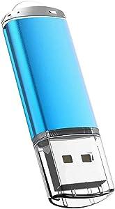 USB Flash Drive 32GB, Maspen USB Thumb Drive 2.0 High Speed USB Memory Stick Jump Drive Zip Drives Pen Drive,Blue,32 GB