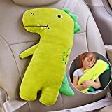 Seatbelt Pillow for Kids, Car Pillow Seat Belt Cushion Kids Seatbelt Pillow, Car Seat Belt Covers Child Seat Head Rest Support Shoulder Pad, Seat Strap Pillows Adjuster for Children Baby (Dinosaur)