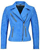 Mila Kunis Ladies Leather Jacket Stylish Fashion Designer Soft Biker Style 9334 from