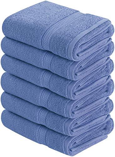 Utopia Towels - Handtücher Set aus Baumwolle 600 GSM - 100% Baumwolle, 41 x 71 cm - 6er Pack (Elektrisches Blau)