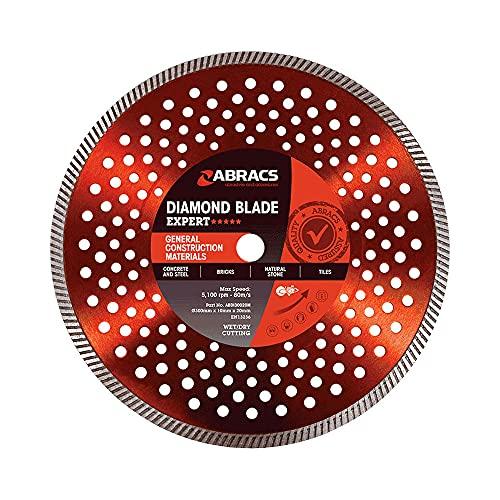 Abracs ABDI125M Expert - Hoja de diamante para materiales de construcción (125 x 10 x 22 mm, 100 unidades)