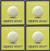Van der Hagen ファンデルハーゲンメンズラグジュアリー香りのシェービングソープ、3.5オンス(4パック)