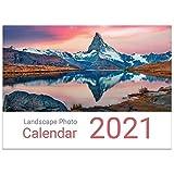 Calendario de pared para fotos de paisaje 2021 A3 con vista mensual grande