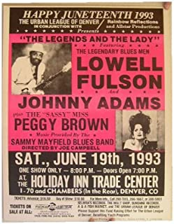 Lowell Fulson Johnny Adams Peggy Brown Concert Poster