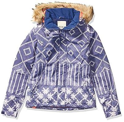 Roxy SNOW Women's Jet Ski Special Edition Jacket, mid denim wake up, L
