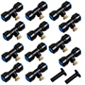 """Hourleey Brass Misting Nozzles, 1/4"""" Misting System Nozzles for Outdoor, Garden, Yard, Set of 12"""