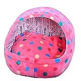 QLIGHA Lit de Chat de Type Pantoufle en Coton Thermique Niche pour Chien épais lit de Chat Tente Taille de la Maison 40x38x38 cm...