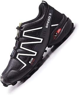 Fietsschoenen Heren Racefietsschoenen Mountainbike Fietsschoenen MTB,Antislip en Ademende Casual Hardloopschoenen,Black-48