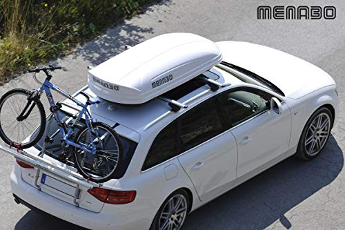 MENABO - MENABO MANIA 400 ABS WHITE Roof box - MANIA 400 WHITE