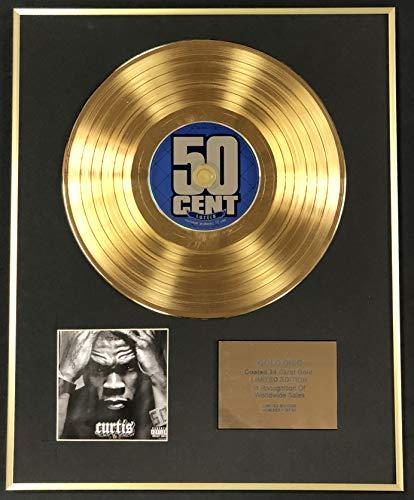 50 Cent – Exclusivo disco de oro de 24 quilates de edición limitada – Curtis