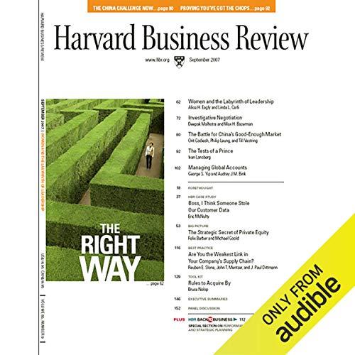 Investigative Negotiation (Harvard Business Review) cover art
