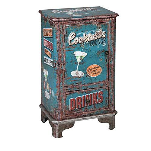 Bijzettafel Cocktails 116268 Retro Blauw (75 X 44 x 30 cm) (S1120629)