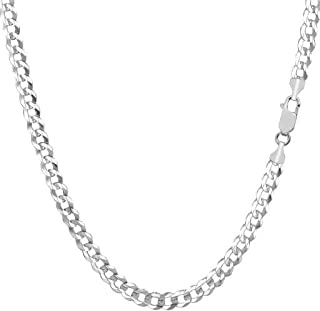 Pori Jewelers 14K Gold 2.5MM, 4MM, 5MM, 6.5MM, 7.5MM, 9MM Cuban/Curb Chain Necklace and Bracelet - Made in Italy - Yellow, White, Rose, Two Tone