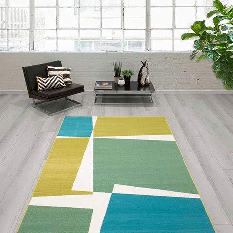 Tapete Cabras 120x170 cm | Alfombra Decorativa Verde Y Azul | Tapete Diseño Moderno | Tapete Decorativo Multicolor | Alfombra...