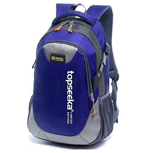 Outdoor Peak Sac à dos unisexe en tissu Oxford imperméable pour livres et ordinateur portable (bleu 2)