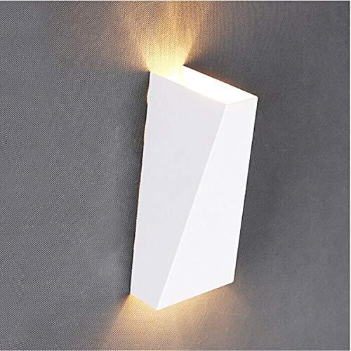Wandlamp, 10 W, ijzer, aluminium, leeslamp boven- en onder, badkamer, hal, decoratie van de lamp, kleurtemperatuur: natuurlijk licht, wit