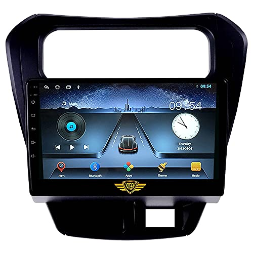 """Ateen Suzuki Alto 800 9"""" inch Double din Android car Music System with Navigation/Android Player/Stereo with 1 GB ram/16 GB ROM/ Bluetooth/Touch Screen Media Player/ Split Screen/Mirror Link Support iOS"""