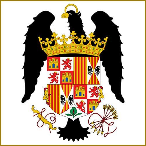 magFlags Bandera Large Pabellón Real de los Reyes Católicos 1492-1504 | 1.35m² | 120x120cm