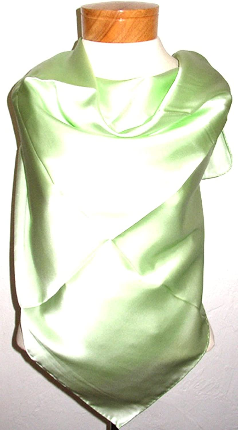 100% Luxurious Charmeuse Silk Scarf Shawl Wrap Solid color By Silk Salon A1336