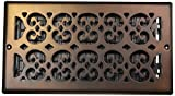 wall air register - Decor Grates SP612W-RB Scroll Plated Register, 6-Inch by 12-Inch, Rubbed Bronze