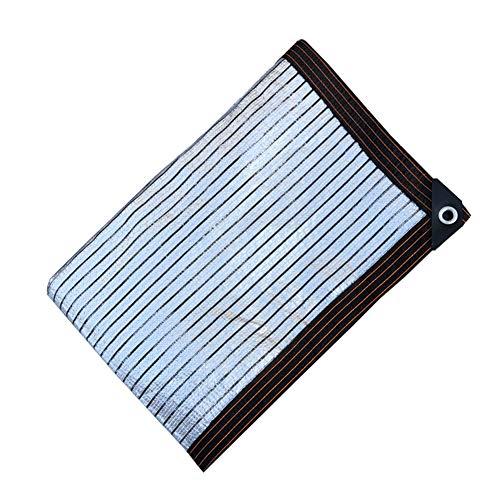 CYOUL-LI Lámina de Aluminio Neta de Sombra 8 años Garantía Sol de protección Solar Sombreado y Aislamiento térmico Patio Balcón 75% Tarifa de sombreado Uso del hogar (Color : Silver, Size : 3X5M)