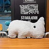 DINEGG Cartoon Rhinoceros Puppe Plüsch Spielzeug Hippo Puppe Kissen Rag Doll Bett Kissen Für...