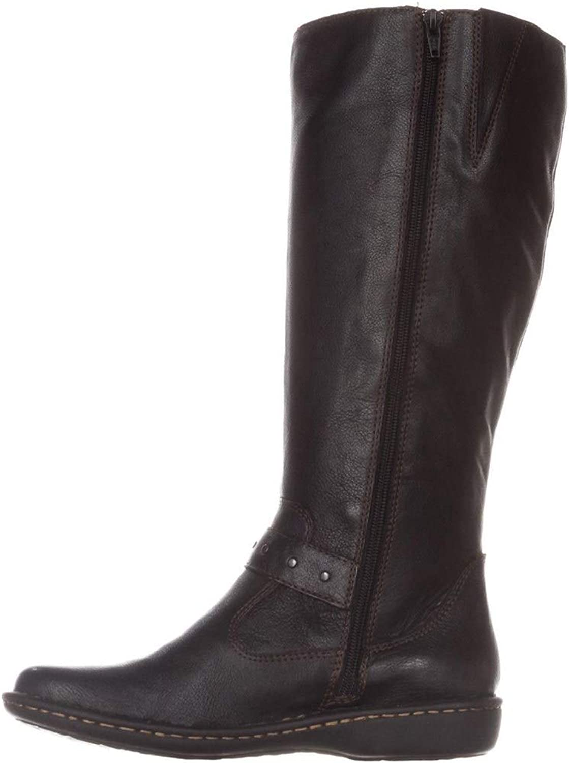 B.O.C. Womens Austin Wide Calf Leather Closed Toe Knee High, Black, Size 11.0
