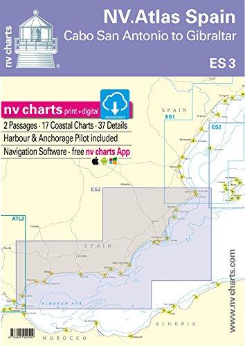 nv charts NV.Atlas Spain ES 3: Cabo San Antonio to Gibraltar | Seekarte Mittelmeer Papier & digital [NV Verlag