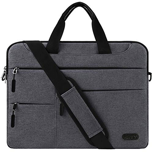 Laptop Bag 14 Inch Laptop Case Waterproof Computer Briefcase Notebook Sleeve Shoulder Bag Lightweight Messenger School Work For Men Women Darkgrey