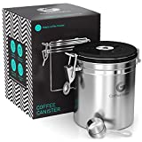 Coffee Gator Stainless Steel Container - Fresher Beans and Grounds for Longer